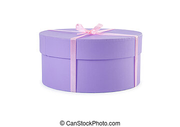 Gift box with clipping path.
