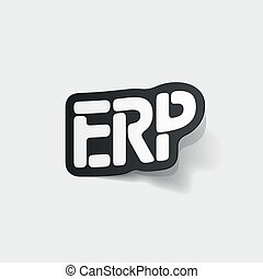 realistic design element: ERP