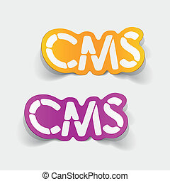 realistic design element: CMS