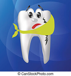 tooth hurts - colorful illustration with tooth hurts for...