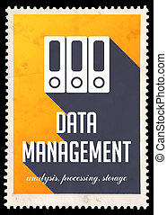 Data Management on Yellow in Flat Design - Data Management...