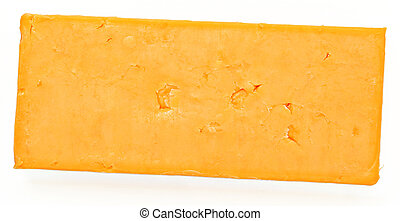 Top View Block of Cheddar Cheese