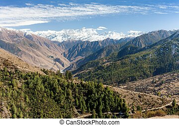 landscape scenery around Dunai - Lower Dolpo - landscape...