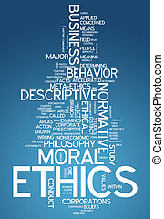 Word Cloud Ethics - Word Cloud with Ethics related tags