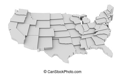Usa map by states in leveles