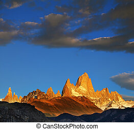 The magnificent sunrise over the Fitzroy - The magnificent...