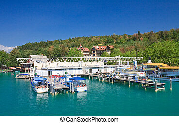 Klagenfurt resort jetty. Austria