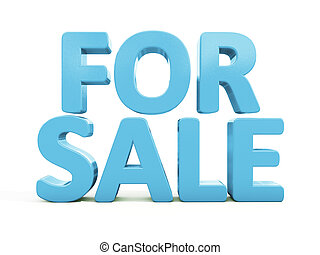3d For sale - For sale icon on a white background. 3D...