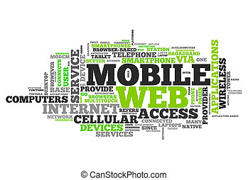 Word Cloud Mobile Web - Word Cloud with Mobile Web related...