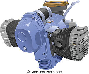 motor - vector illustration of motocycle internal combustion...