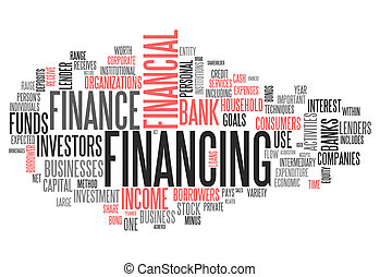 Word Cloud Financing - Word Cloud with Financing wording