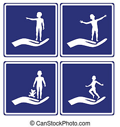 Child Care Signs - Set of signposts for all services related...