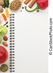 food ingredients and paper - food ingredients and recipe...