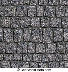 Granite Sett Seamless Tileable Texture - Dark Grey Granite...