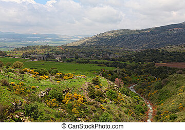 Golan heights - Wild Landscape With Golan Heights; Israel