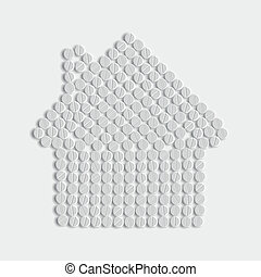 pills concept: home, house, building