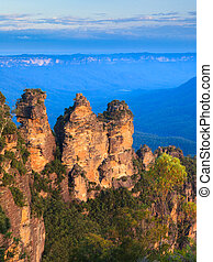 The Three Sisters From Echo Point, Blue Mountains National...