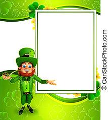 Leprechaun for patricks day - 3d rendered illustration of...