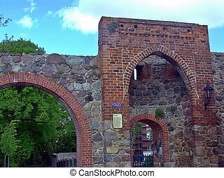 The school gate - Historical walled city of Templin in...