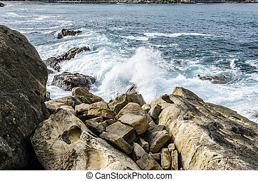 Rocks in the ocean - Beautiful and very detailed rocks, with...