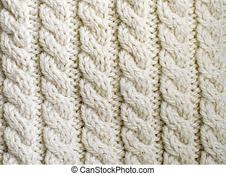 Creamy off-white wool knitwork Creamy off-white wool...