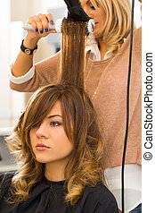 Beaty, hairstyle. Hairdresser salon - Hairdresser salon....