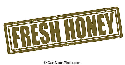 Fresh honey - Stamp with text fresh honey inside, vector...