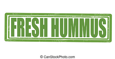 Fresh hummus - Stamp with text fresh hummus inside, vector...