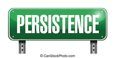 Female Entrepreneur With Persistence Word On The Hill ...  |Persistence Word