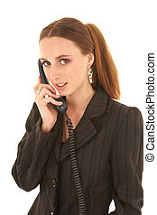 Young caucasian businesswoman - Young adult brunette...