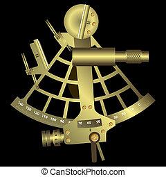 sextante, negro