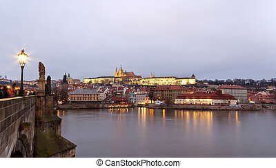 Panorama of Prague, photo by Karluv Most.