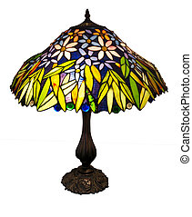 Art Deco Table Lamp isolated with clipping path