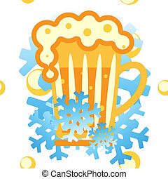 Vector background: cold drinks