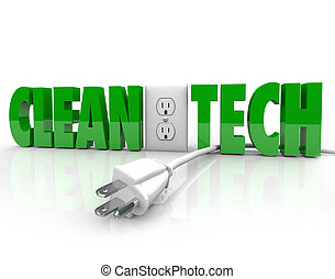 Clean Tech Power Plug Electrical Outlet Unplug Energy Source...