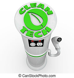 Clean Tech EV Electric Vehicle Car Charging Station Power...