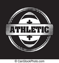 American football design over black background, vector...