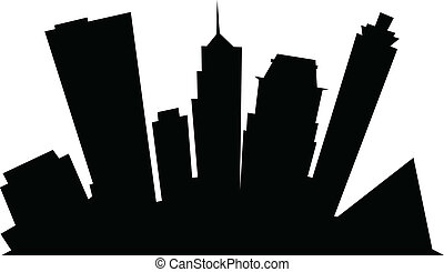 Cartoon Memphis - Cartoon skyline silhouette of the city of...