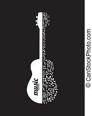 Music design over black background,vector illustration