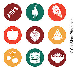 Food design over gray background, vector illustration