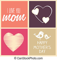 Mothers day design over colorful background, vector...