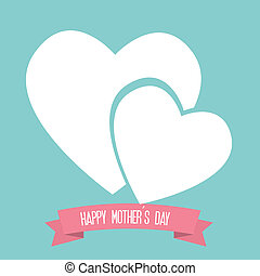 Mothers day design over blue background, vector illustration
