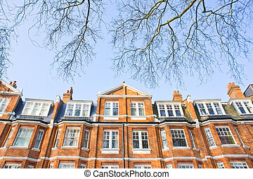 London architecture - Victorian architecture in London with...