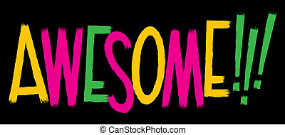 Awesome Text - Cartoon text of the word AWESOME!