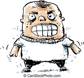 Bully Boy - A cartoon bully with an angry face