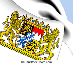 Bavaria Coat of Arms, Germany Close Up