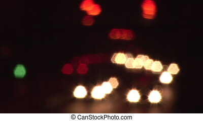 Stock Footage of Traffic Defocussed