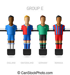 Table football, foosball players - European football...