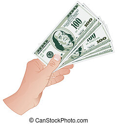 Hand with Dollar Banknotes