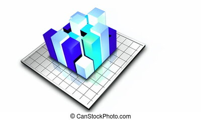 Stock Video of 3D Graph